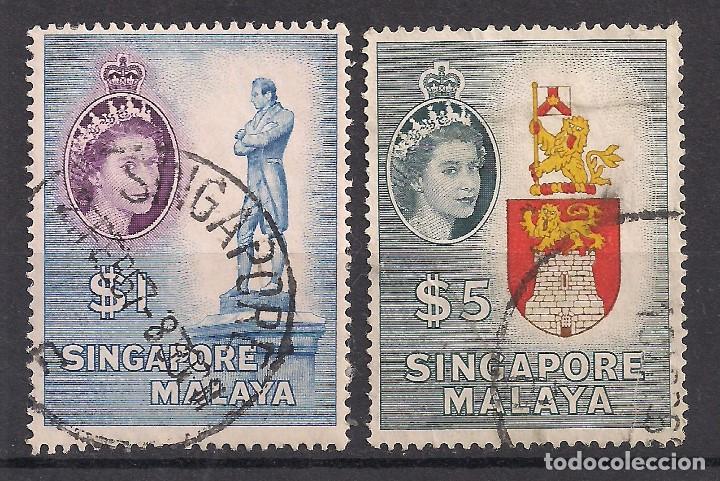 SINGAPUR 1955 - USADO (Sellos - Extranjero - Asia - Singapur)