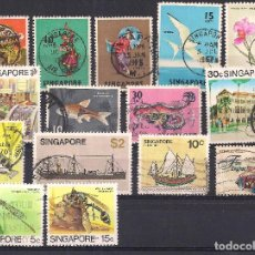 Sellos: SINGAPUR - LOTE 15 SELLOS DIFERENTES - USADO. Lote 98615211