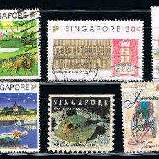Sellos: SINGAPUR - LOTE DE 10 SELLOS - VARIOS (USADO). Lote 103211139