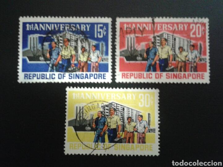 SINGAPUR. YVERT 70/2. SERIE COMPLETA USADA. (Sellos - Extranjero - Asia - Singapur)