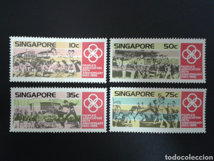 SINGAPUR. YVERT 467/70. SERIE COMPLETA NUEVA SIN CHARNELA. DEPORTES (Sellos - Extranjero - Asia - Singapur)