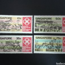 Sellos: SINGAPUR. YVERT 467/70. SERIE COMPLETA NUEVA SIN CHARNELA. DEPORTES. Lote 110845767