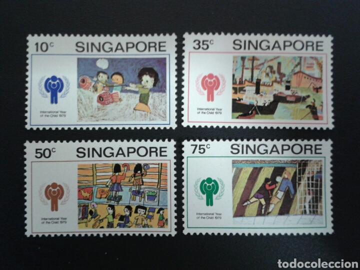 SINGAPUR. YVERT 327/30. SERIE COMPLETA NUEVA SIN CHARNELA. DIBUJOS INFANTILES. (Sellos - Extranjero - Asia - Singapur)