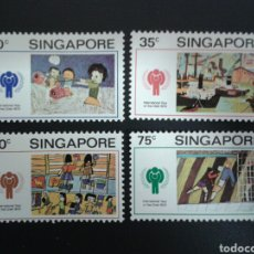 Sellos: SINGAPUR. YVERT 327/30. SERIE COMPLETA NUEVA SIN CHARNELA. DIBUJOS INFANTILES.. Lote 110845806