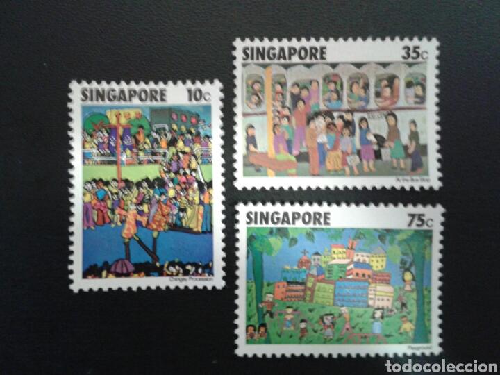 SINGAPUR. YVERT 284/6. SERIE COMPLETA NUEVA SIN CHARNELA. DIBUJOS INFANTILES. (Sellos - Extranjero - Asia - Singapur)