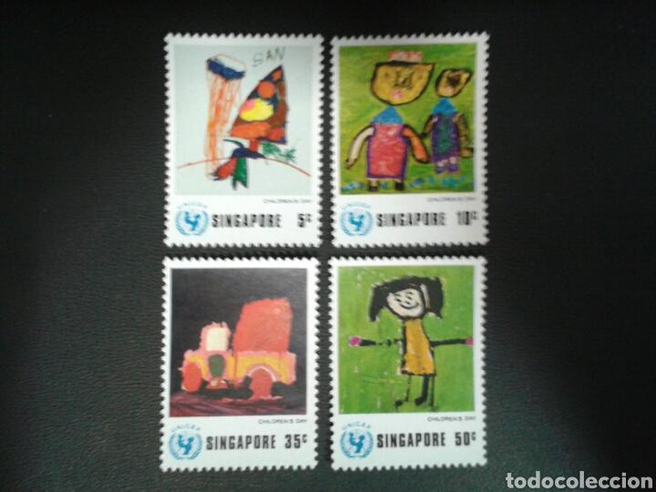 SINGAPUR. YVERT 217/20. SERIE COMPLETA NUEVA SIN CHARNELA. DIBUJOS INFANTILES. (Sellos - Extranjero - Asia - Singapur)