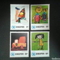 Sellos: SINGAPUR. YVERT 217/20. SERIE COMPLETA NUEVA SIN CHARNELA. DIBUJOS INFANTILES.. Lote 110845830