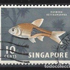 Sellos: SINGAPUR / FAUNA - SELLO USADO. Lote 112738559