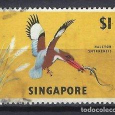 Sellos: SINGAPUR / FAUNA - SELLO USADO. Lote 112738647