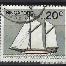 Sellos: SINGAPUR / BARCOS - SELLO USADO. Lote 112739111