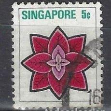 Sellos: SINGAPUR / FLORA - SELLO USADO. Lote 112739203