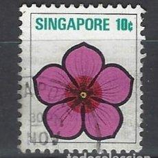 Sellos: SINGAPUR / FLORA - SELLO USADO. Lote 112739267