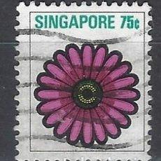 Sellos: SINGAPUR / FLORA - SELLO USADO. Lote 112739299