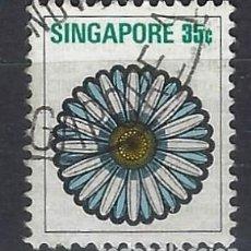 Sellos: SINGAPUR / FLORA - SELLO USADO. Lote 112739355