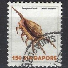Sellos: SINGAPUR / FAUNA - SELLO USADO. Lote 112739447