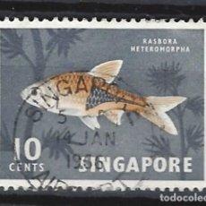 Sellos: SINGAPUR / FAUNA - SELLO USADO. Lote 121159303