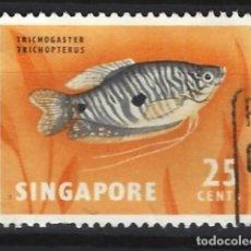 Sellos: SINGAPUR / FAUNA - SELLO USADO. Lote 121159339