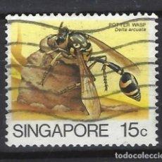 Sellos: SINGAPUR / FAUNA - SELLO USADO. Lote 121159371