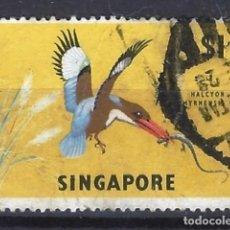 Sellos: SINGAPUR / FAUNA - SELLO USADO. Lote 121159559