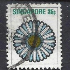 Sellos: SINGAPUR / FLORA - SELLO USADO. Lote 121159903