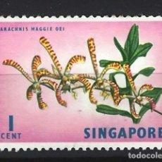 Sellos: SINGAPUR / FLORA - SELLO NUEVO CON CHARNELA. Lote 121160715