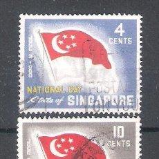 Sellos: SINGAPUR Nº 49/50º BANDERA. SERIE COMPLETA. Lote 138928030