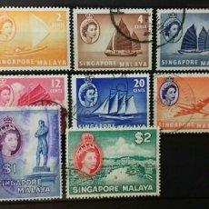 Sellos: SELLOS DE SINGAPUR 1955. Lote 139483753