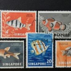 Sellos: SERIE DE SELLOS DE SINGAPUR DE PECES 1962. Lote 139484154