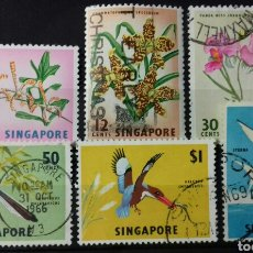Sellos: SELLOS DE SINGAPUR DE FLORA Y FAUNA. Lote 139484401