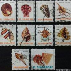 Sellos: SELLOS DE SINGAPUR CONCHAS MARINAS 1977. Lote 139484696