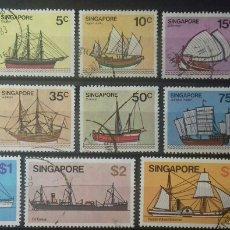 Sellos: SELLOS DE BARCOS DE SINGAPUR 1980. Lote 139574992