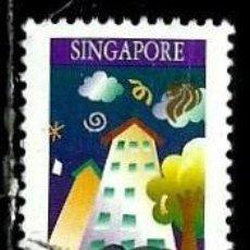 Sellos: SINGAPUR SCOTT: 815-(1997) (MINISTERIO DE MEDIO AMBIENTE: CASAS LIMPIAS) USADO. Lote 148679850