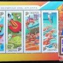 Sellos: 1996. DEPORTES. SINGAPUR. HB 50. JUEGOS OLÍMPICOS ATLANTA. MUY ORIGINAL DISEÑO SELLOS. NUEVO.. Lote 159437354