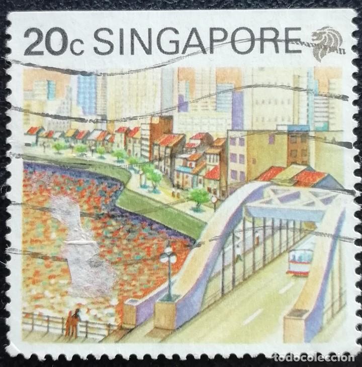 1990. VARIOS. SINGAPUR. 579. TURISMO. RÍO SINGAPUR. USADO. (Sellos - Extranjero - Asia - Singapur)