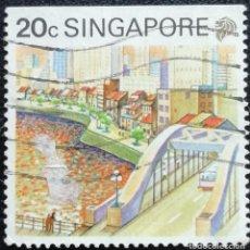 Sellos: 1990. VARIOS. SINGAPUR. 579. TURISMO. RÍO SINGAPUR. USADO.. Lote 169924728