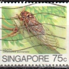 Sellos: SINGAPUR - IVERT #462 - ***I N S E C T O S*** - AÑO 1985 - USADO. Lote 174455402