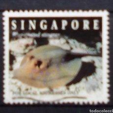Sellos: SINGAPUR PECES SELLO USADO. Lote 177640587