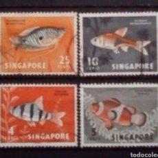 Sellos: SINGAPUR PECES SERIE DE SELLOS USADOS. Lote 179199411