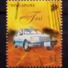 Sellos: SINGAPUR TAXI SELLO USADO. Lote 189254122