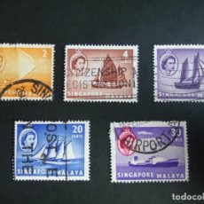 Timbres: MALAYA SINGAPUR, ISABEL II, BARCOS. Lote 190897161
