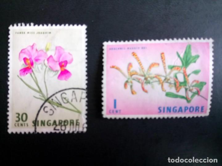 SINGAPUR, FLORES (Sellos - Extranjero - Asia - Singapur)