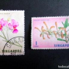 Sellos: SINGAPUR, FLORES. Lote 190898267