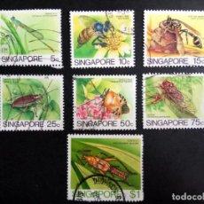 Sellos: SINGAPUR, FAUNA, INSECTOS . Lote 190898510