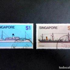 Sellos: SINGAPUR, BARCOS. Lote 190898721