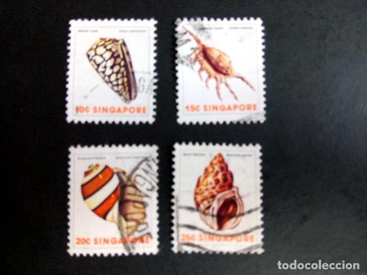 SINGAPUR, FAUNA, MOLUSCOS (Sellos - Extranjero - Asia - Singapur)