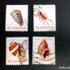 Sellos: SINGAPUR, FAUNA, MOLUSCOS. Lote 190899121
