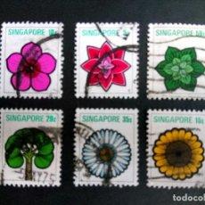 Sellos: SINGAPUR 1975. FLORES. Lote 190899257