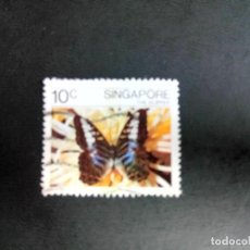 Sellos: SINGAPUR, FAUNA, MARIPOSA. Lote 190899373