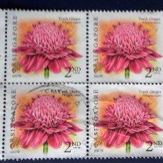 Sellos: SINGAPUR, USADOS, SELLOS EN BLOQUE DE 8. Lote 191996251