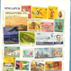 Sellos: LOTE DE SELLOS DE SINGAPUR. Lote 201937262